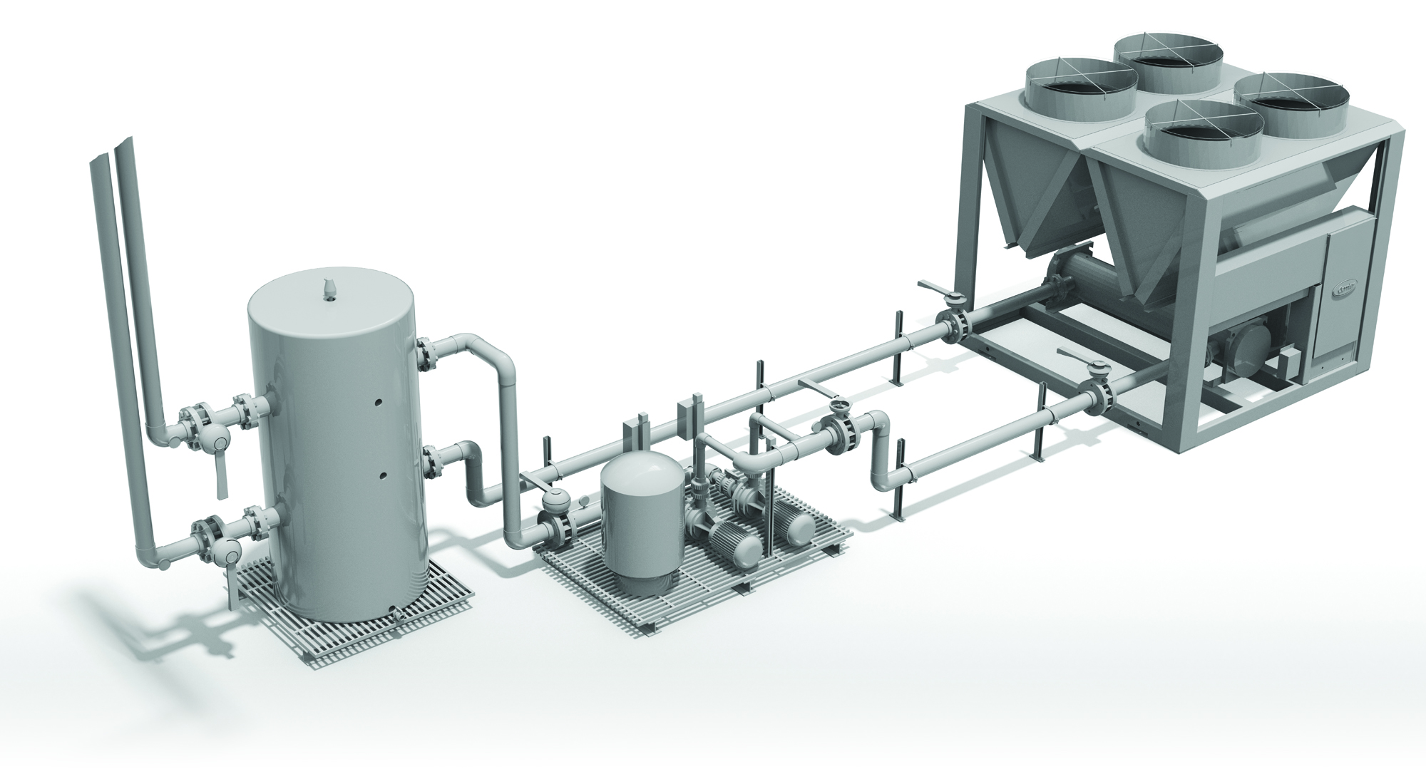 Engineering And Design Services Piping Layout Requirements Delta Sizes Each Individual Equipment Component To Guarantee The System Performs Customer Also Furnishes Installation Diagrams